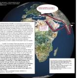 Mapa sobre la expansión europea con texto de Carlo M. Cipolla