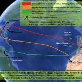 Rutas comerciales del Imperio Español del Siglo XVI en la práctica de comercio con Indias y su sistema de flotas.