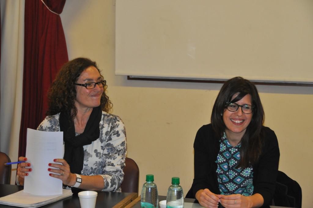 De izquierda a derecha: Dra. Marcela Ferrari (CONICET - CeHis) y Dra. Mariana Heredia (CONICET)  Todos los derechos reservados para su uso parcial o total en Aportes de la Historia.
